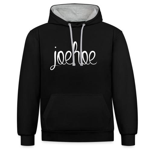 Joehoe unisex contrast hoodie - Contrast hoodie
