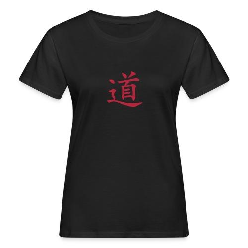 Front: Der Weg /Dao, Back:The Path , Women Bioshirt ( Print:.Digital Dark Red) - Frauen Bio-T-Shirt