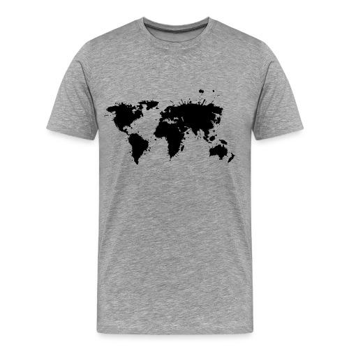 Herren Premium T-Shirt Weltkarte - Männer Premium T-Shirt