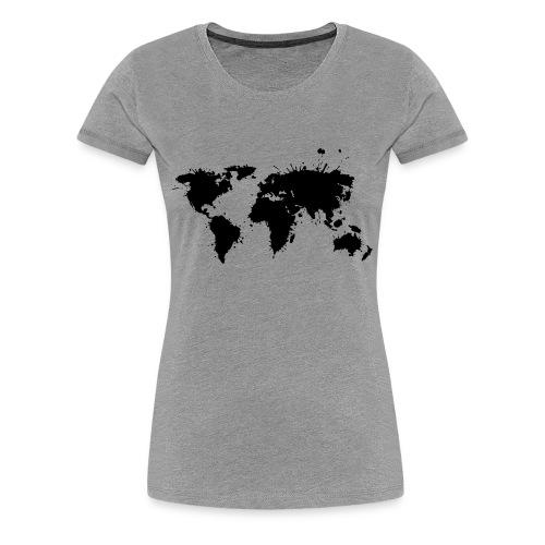 Damen Premium T-Shirt Weltkarte - Frauen Premium T-Shirt