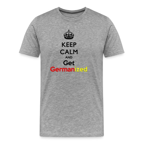 Keep Germanized Shirt Men Grey - Men's Premium T-Shirt