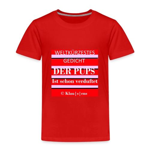 Kinder-Premium-T-SHIRT mit Aufdruck Gedicht DER PUPS von KLAUSENS - Kinder Premium T-Shirt