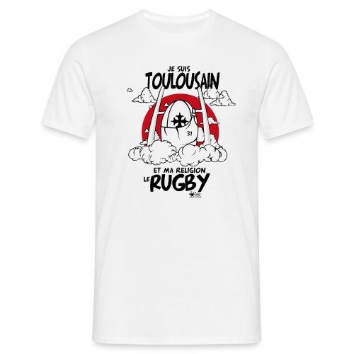 Ts toulousain rugby religion - T-shirt Homme