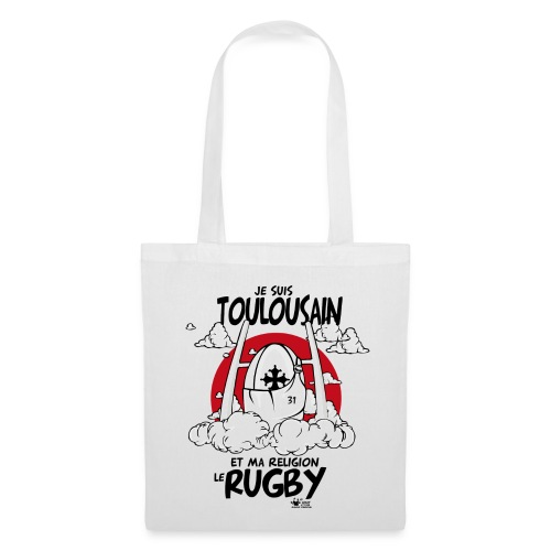 Sac toulousain rugby religion - Tote Bag