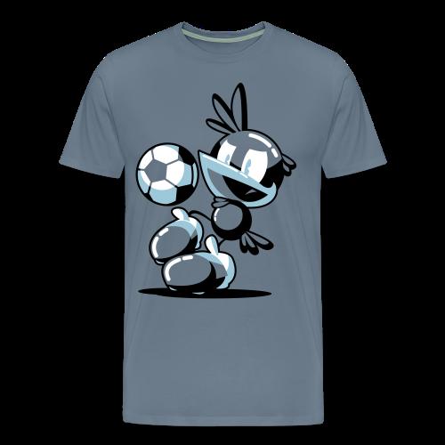 T-Shirt Flop Jongle Homme Gris-Bleu - T-shirt Premium Homme