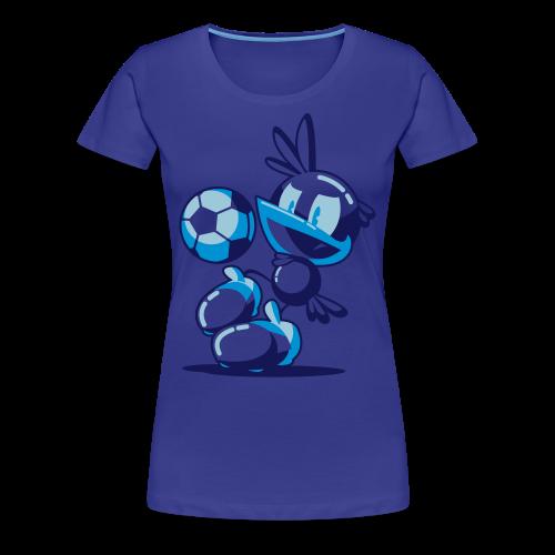 T-Shirt Flop Jongle Femme Bleu - T-shirt Premium Femme