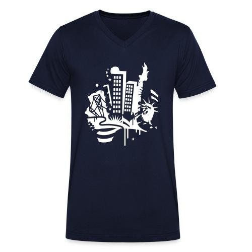 Berlin City - Männer Bio-T-Shirt mit V-Ausschnitt von Stanley & Stella