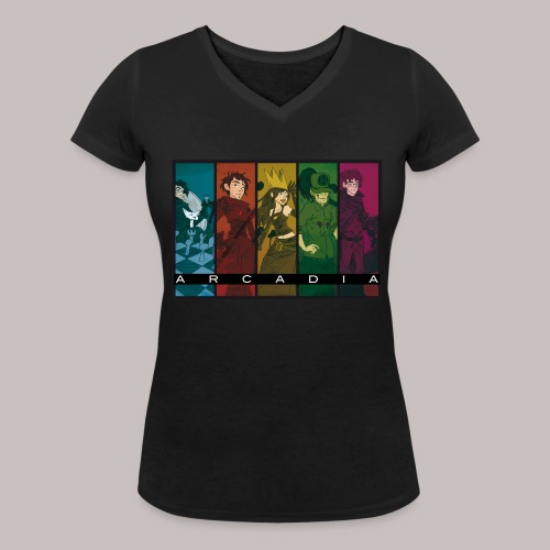 Arcadia Officiel Femme black - T-shirt bio col V Stanley & Stella Femme