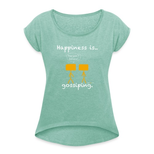 Women's tee - Women's T-Shirt with rolled up sleeves
