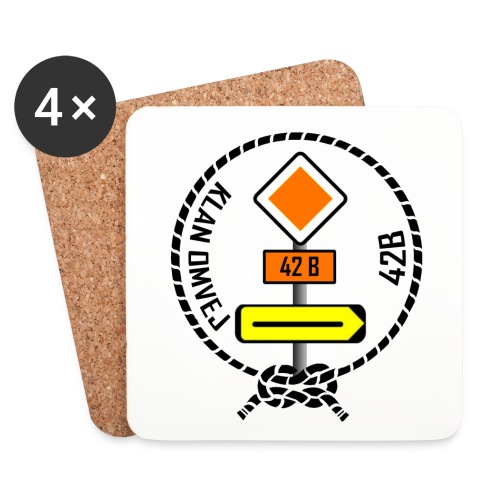 Klan Omvej 42B - Glasbrikker - Coasters (set of 4)