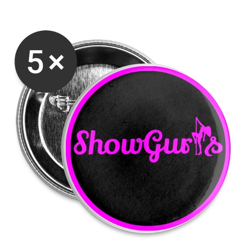 Showgirls Circle Logos - Buttons/Badges stor, 56 mm (5-pack)