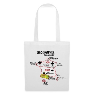 Sac geographie toulousaine - Tote Bag
