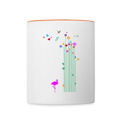 Frühlingserwachen - Tasse zweifarbig