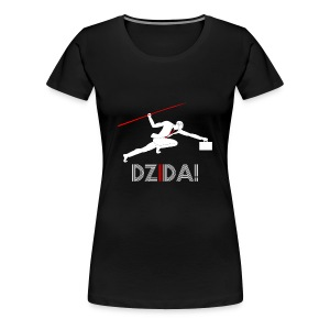 Dzida White on Black for Woman - Koszulka damska Premium