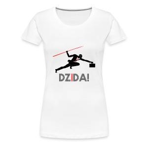 Dzida Black on White for Woman - Koszulka damska Premium