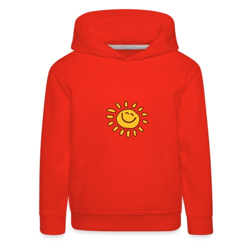 Front: Sun,  Back : Walking Together Kids Hoody  (Print: Lavendel / Brown - Kinder Premium Hoodie