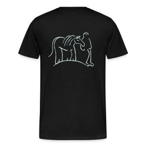 Front: MPS Logoschriftzug & Back: Walking Together - Men and Women +3XL Shirt (Print: Reflektor) - Männer Premium T-Shirt