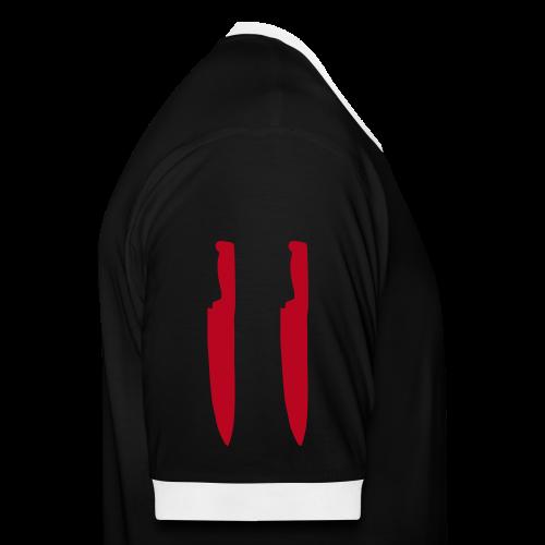 Schwarz Rot Weiß - Männer Kontrast-T-Shirt