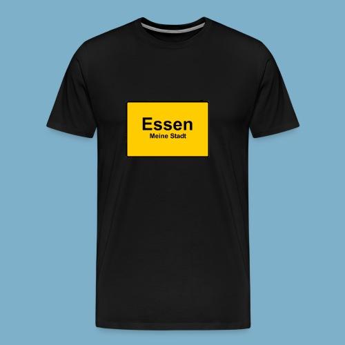 City Motiv Ortsschild Essen - Männer Premium T-Shirt