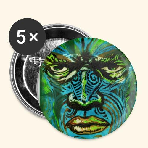 Maori - Lot de 5 petits badges (25 mm)