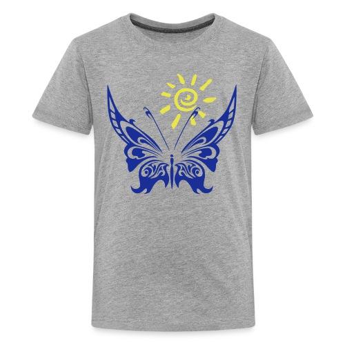Sonne & Schmetterling - Teenager Premium T-Shirt