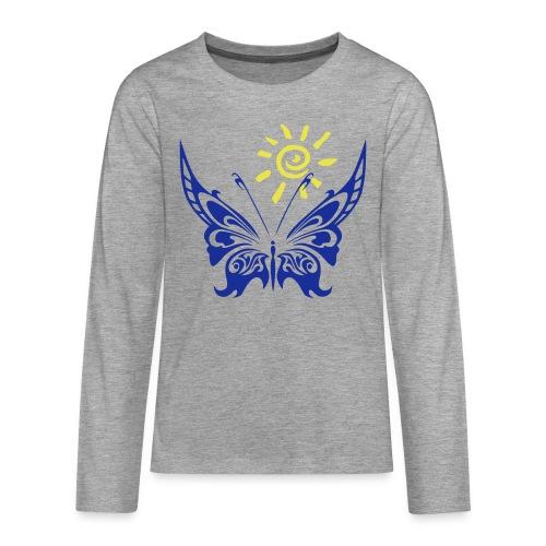 Sonne & Schmetterling - Teenager Premium Langarmshirt