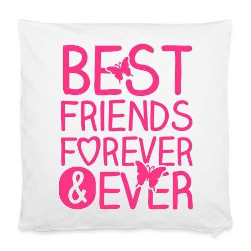 Best Friends ever / Neonpink - Kissenbezug 40 x 40 cm