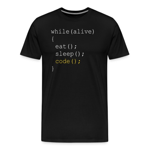 while alive - Männer Premium T-Shirt