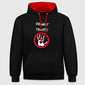 do not touch! Pullover & Hoodies - Kontrast-Hoodie