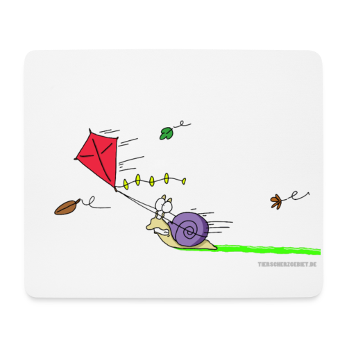 Cartoon Mousepad Rasende Schnecke - Mousepad (Querformat)