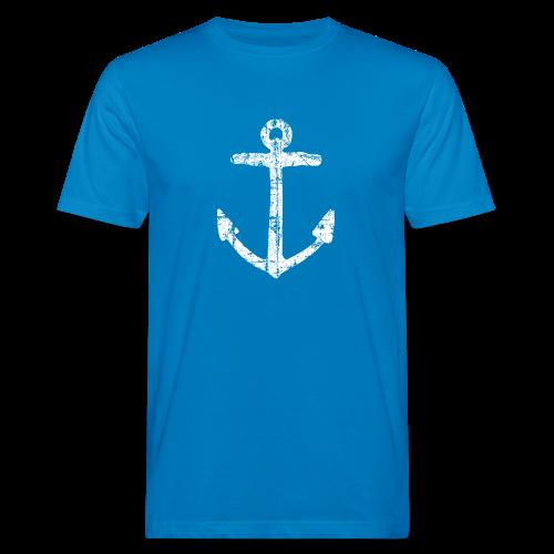 Anker Vintage (Weiß) Bio T-Shirt - Männer Bio-T-Shirt