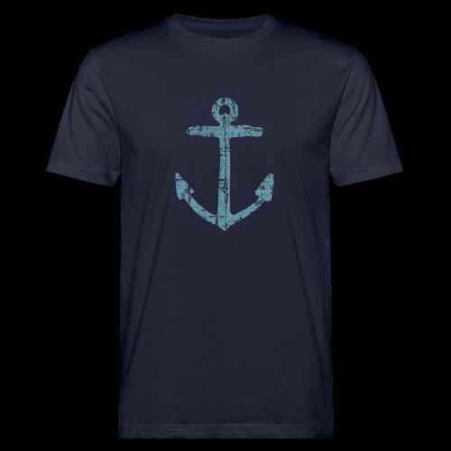 Anker Vintage (Blau) Bio T-Shirt - Männer Bio-T-Shirt
