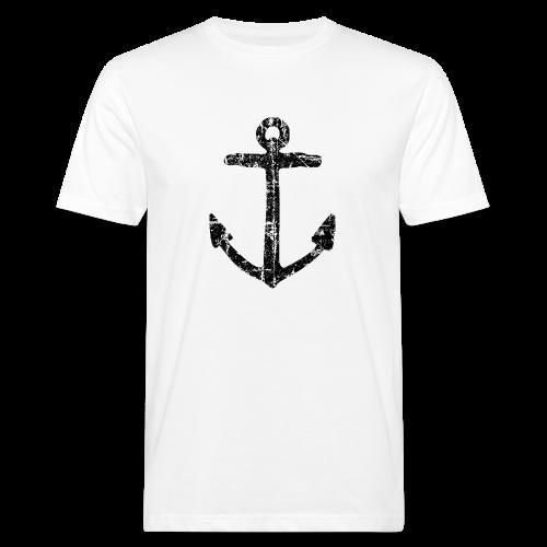 Anker Vintage (Schwarz) Bio T-Shirt - Männer Bio-T-Shirt