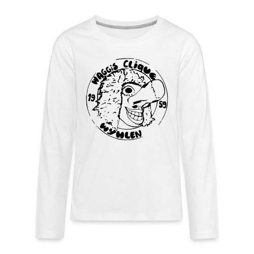 TEENAGER Langarm-Shirt - Logo 80er Kontur - Teenager Premium Langarmshirt