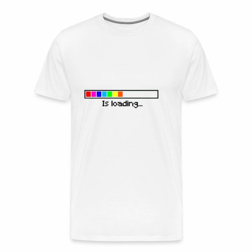 Is loading (Weiß) - Männer Premium T-Shirt