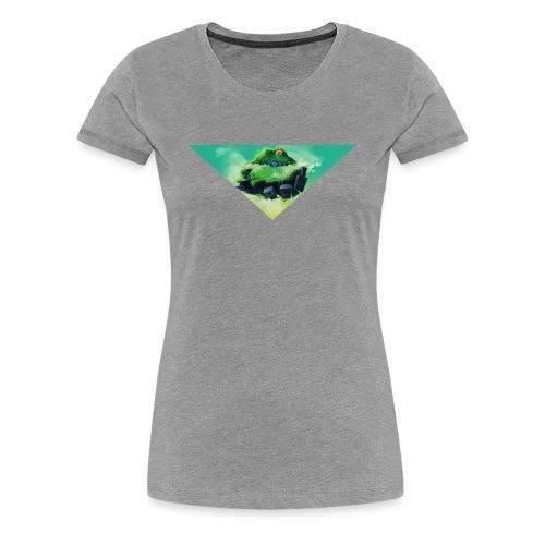 flugobjekt - t-shirt frauen grau meliert - Frauen Premium T-Shirt