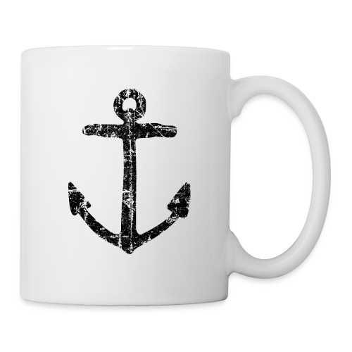 Anker Vintage (Schwarz) Tasse - Tasse