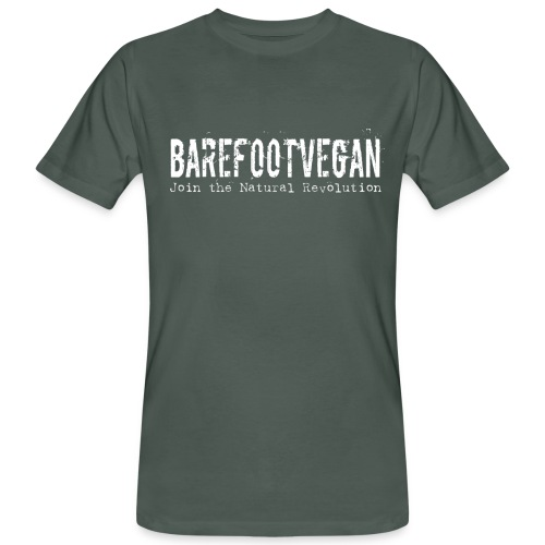 Men's Organic Barefoot Vegan T-Shirt - Men's Organic T-Shirt