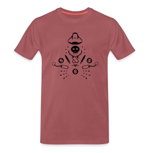 Tee shirt Premium Homme pirate tête de mort - T-shirt Premium Homme