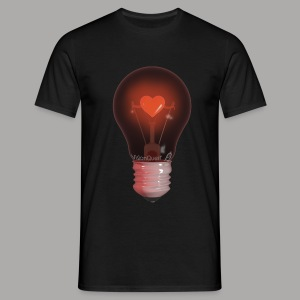 Valentine Light (zwart) - Mannen T-shirt