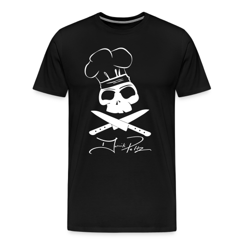 White Skull on Black Shirt - Men's Premium T-Shirt