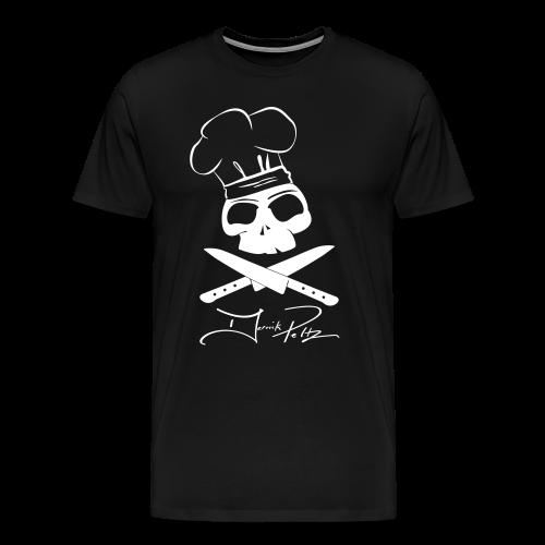 White Skull on Black Shirt - Men's Premium T-Shirt