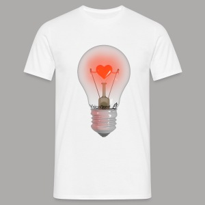 Valentine Light (wit) - Mannen T-shirt