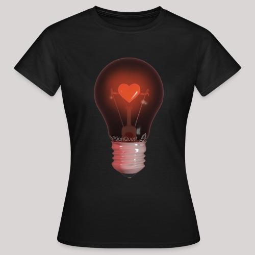 Valentine Light (zwart) - Vrouwen T-shirt