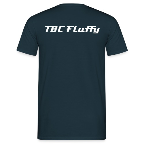 Fluffy 'F' Logo and Name - Men's T-Shirt