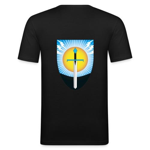 Freie Fechter zu Hamburg Schwertwahn - Männer Slim Fit T-Shirt