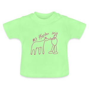 MPS Naiv Print,  Baby Shirt ( Print: Digiital Magenta) - Baby T-Shirt
