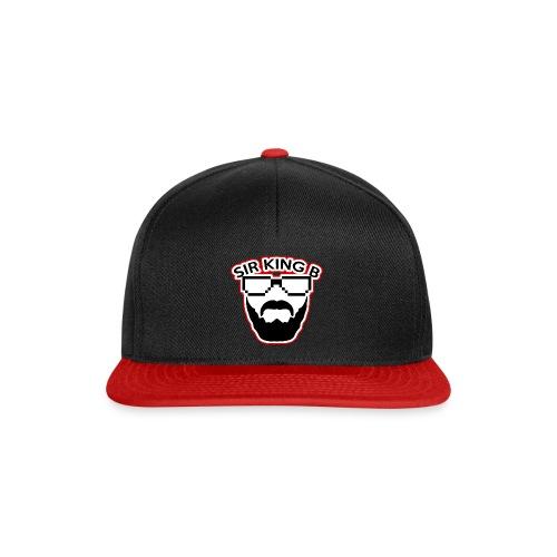 SirKingB Snapback red&black - Snapback Cap