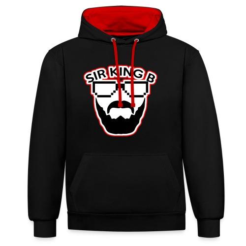 SirKingB  Hoddie Unisex red&black - Kontrast-Hoodie