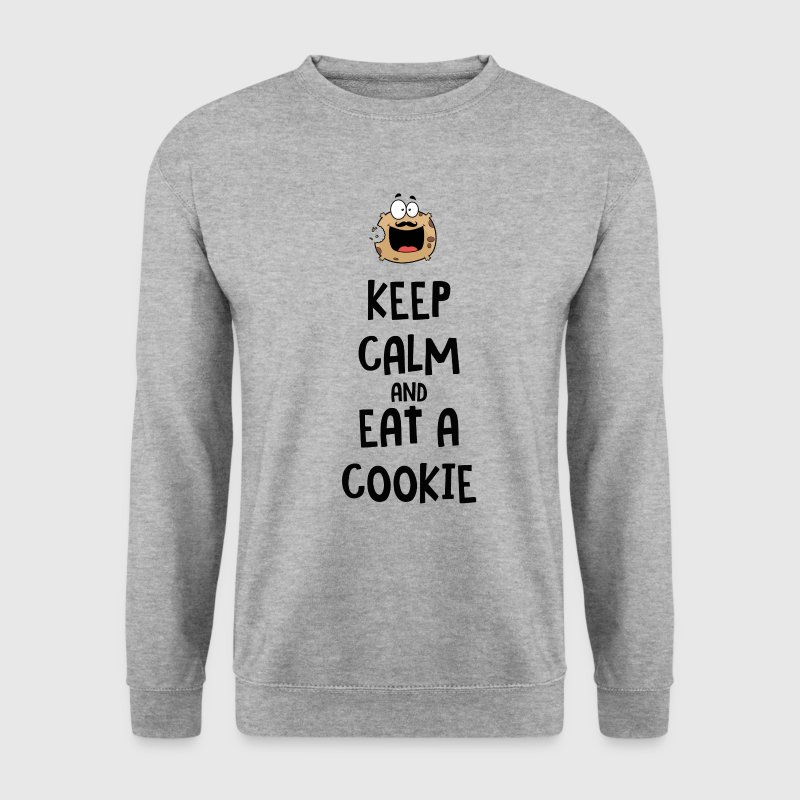 Keep calm and eat a cookie Sweat-shirts - Sweat-shirt Homme